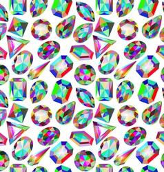 background seamless placer precious stones vector image vector image