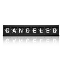 Canceled message vector image