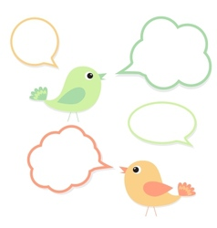 Set of birds with speech bubbles vector image vector image