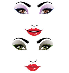 cartoon female face vector image vector image