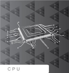 CPU backgroud abstact line brush vector image vector image