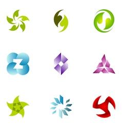 logo design elements set 50 vector image vector image