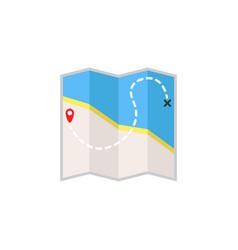 map flat icon travel navigation vector image vector image