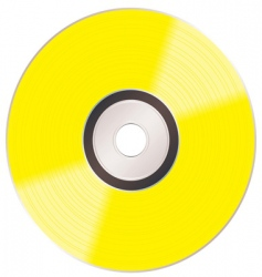 shiny gold cd vector image