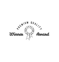 simply award medal badge vector image vector image