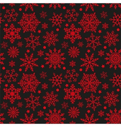 Snowflakes on black and red background seamless te vector image vector image