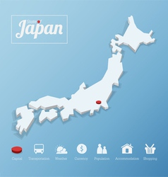States of Japan map vector image vector image