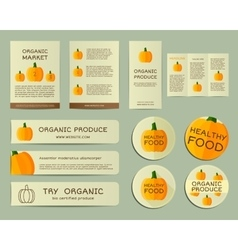 Organic business corporate identity design with vector image