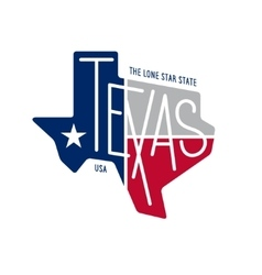 Texas related t-shirt design The lone star state vector image