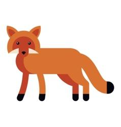 fox flat icon vector image vector image