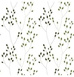 Green romantic weeds vector
