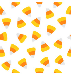 Happy halloween candy corn seamless pattern vector