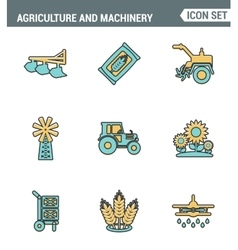 Icons line set premium quality of agriculture and vector image vector image