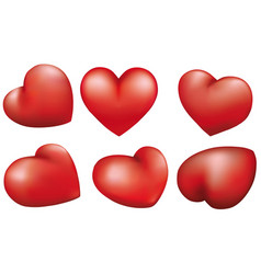 red heart isolated on white background design vector image vector image