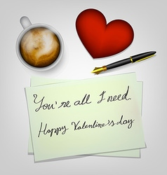 Valentines day table vector image