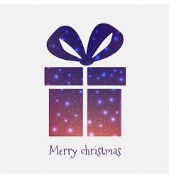 Abstract creative concept icon of gift box vector