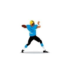american football sign player sends ball vector image