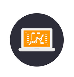analytics business analysis icon vector image
