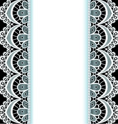 background with stripes of lace vector image