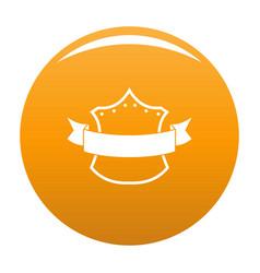 badge king icon orange vector image