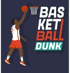 Basketball dunk vector image