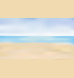 blurred summer beach background summer concept vector image