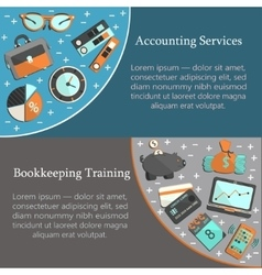 Bookkeeping card template vector