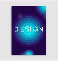 Brochure cover geometric design a4 size template vector
