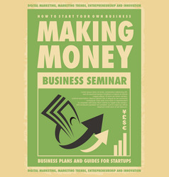 business seminar creative poster template vector image