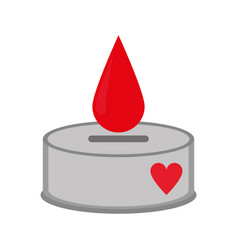 campaing donation blood drop vector image