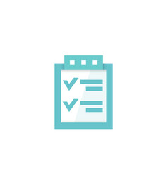 checklist icon on white vector image
