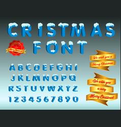 christmas font easy to modify vector image