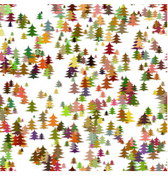 colored random pine tree background - winter vector image