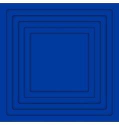 Concentric Blue 6 Square Background vector image