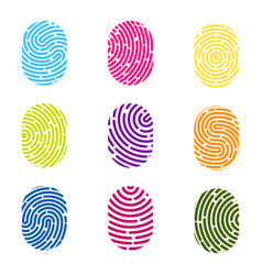 creative of fingerprint art vector image