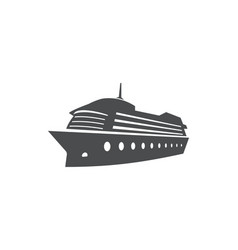 cruise ship ocean boat sea transport symbol vector image