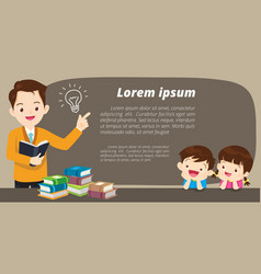 Education banner background vector