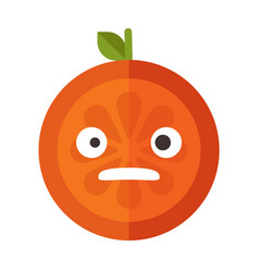 Emoji - shock orange smile isolated vector