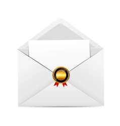 Envelope with Golden Stamp vector image