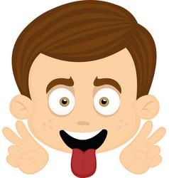 face a nice boy vector image