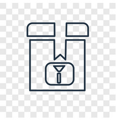 fragile concept linear icon isolated on vector image