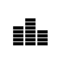 frequency sound wave music equalizer flat vector image