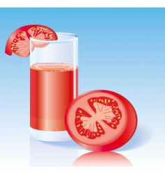 fresh tomato juice vector image