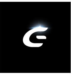 G letter logo bold italic letter for automotive vector