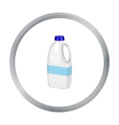Gallon plastic milk bottle icon in cartoon style vector image
