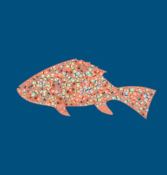 Garbage in the silhouette of a fish vector