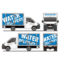Gazel next water delivery truck vector