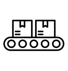 Goods on conveyor icon outline style vector