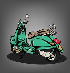 Green Scooter vector image