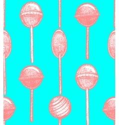 Hand drawn lollipop background vector
